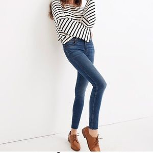 "MADEWELL// 9"" mid-rise skinny jeans BNWT"
